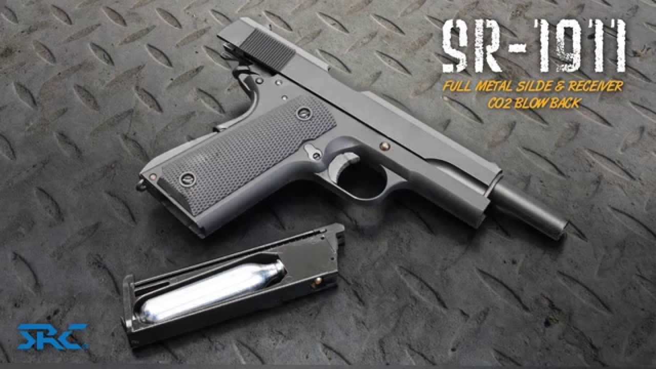 SRC SR-1911 CO2 Ver  Full Metal Blow Back 6mm Airsoft Pistol