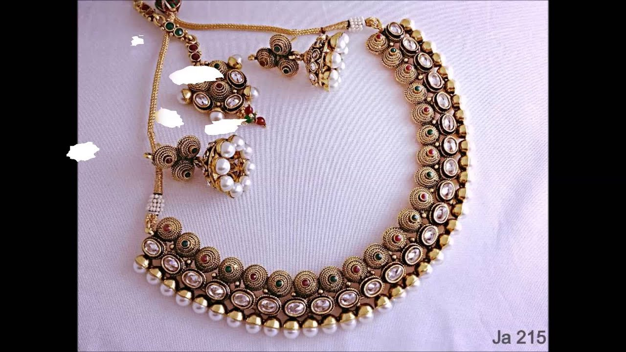 in jewellery set with necklace jewelry tags kundan original shopping golden india stone buy chain matching online top designer pearl stores earrings
