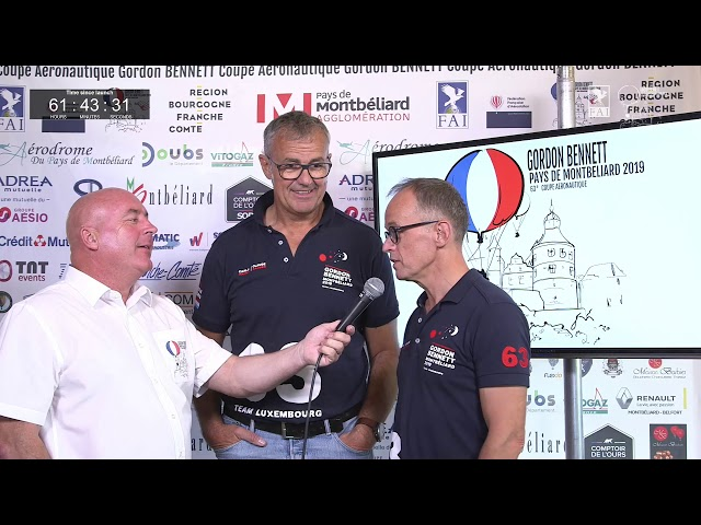 Monday morning update with GER3 - 63rd Coupe Aéronautique Gordon Bennett 2019