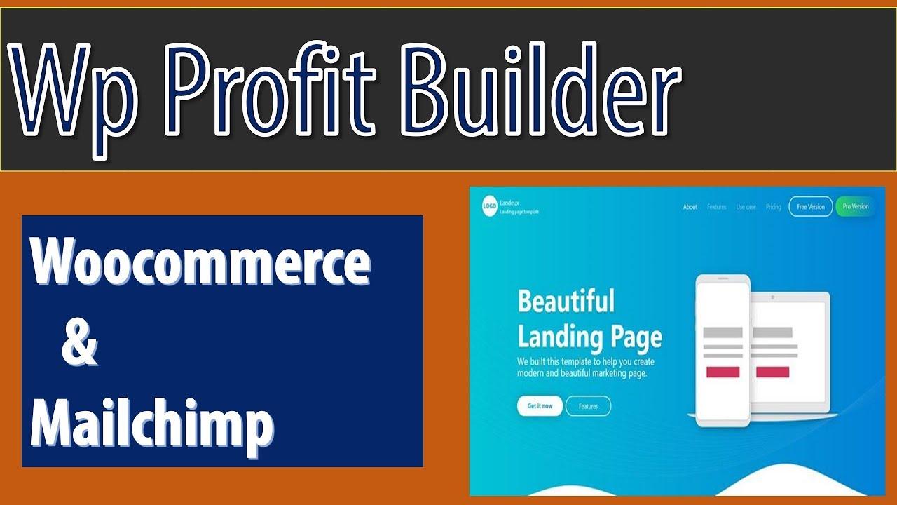 Wp Profit Builder MailChimp |Wp Profit Builder Woocommerce