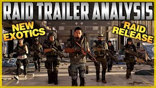 The Division 2 | New & Returning Exotics! Raid Trailer Breakdown