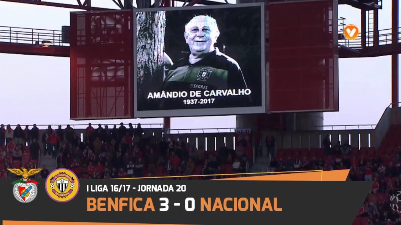 Benfica Nacional Resumo: Liga NOS 16/17 - YouTube