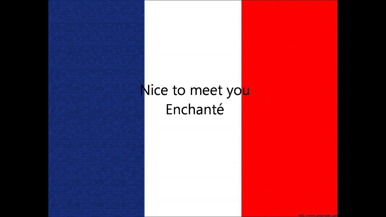 nice to meet you in french slang for police