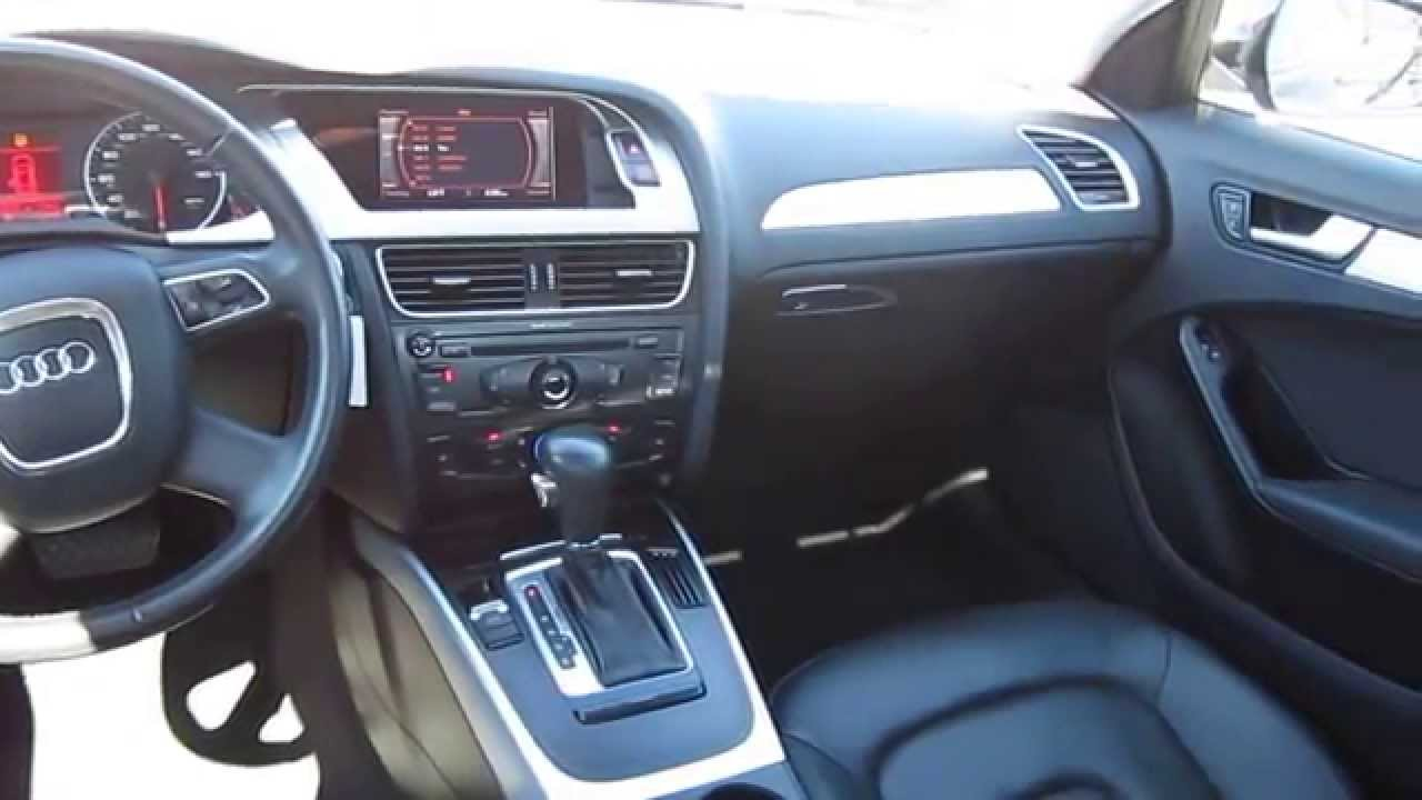 2010 Audi A4 Brilliant Black Stock 13390p Interior