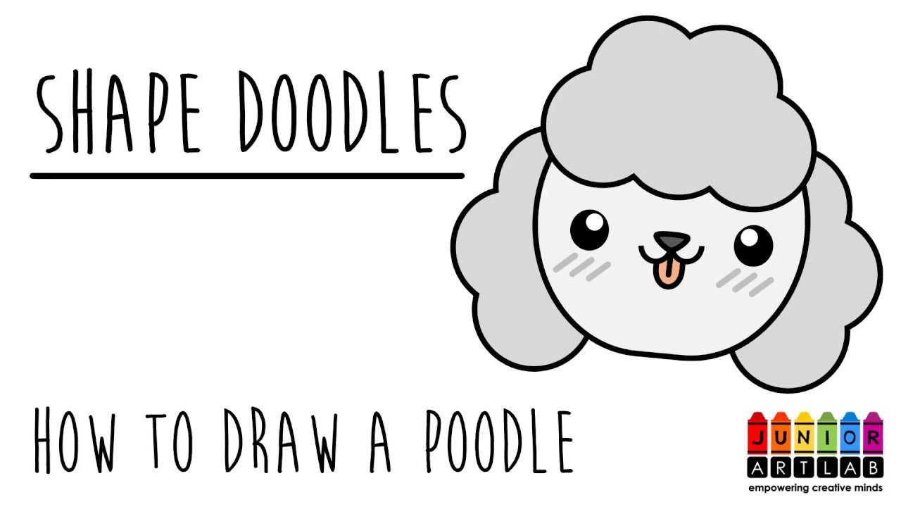 How To Draw A Cute Dog Poodle Shape Doodles Junior Art Lab