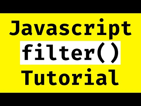 Javascript Array Filter Tutorial thumbnail