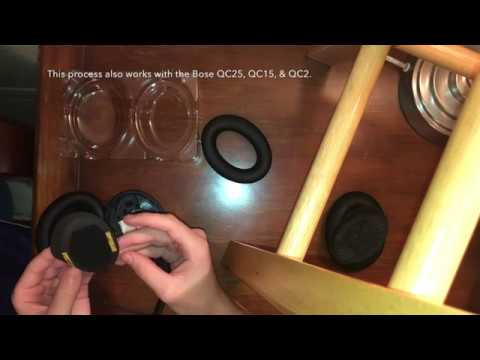 How To Replace Ear Cushions on BOSE QuietComfort 35 Headphones