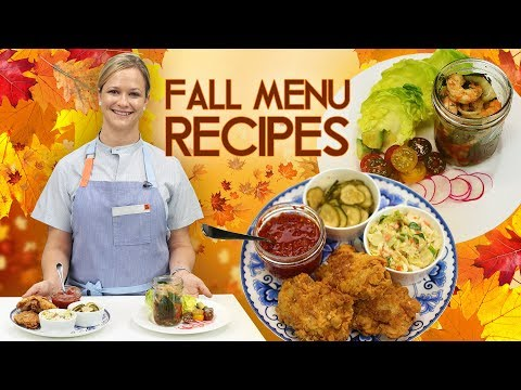 Fall Menu Recipes | Pickled Shrimp & Sweet Tea Fried Chicken w/ Seasonal Ingredients