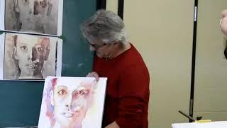 L'atelier d'aquarelle de Luc Boivin, mars 2019