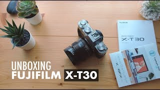 FUJIFILM X-T30 - UNBOXING video and quick setting