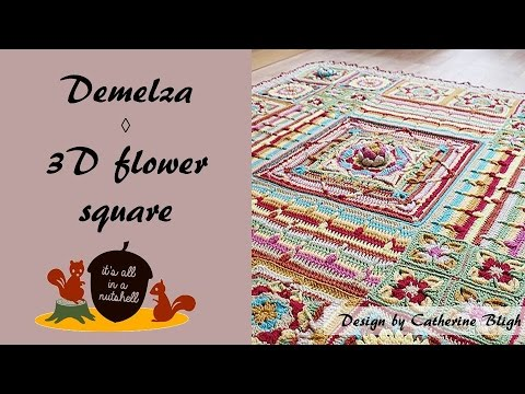 Demelza Part 4 - 3D Flower Corner Square
