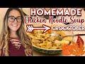 HOMEMADE CHICKEN NOODLE SOUP RECIPE | CROCKTOBER 2019
