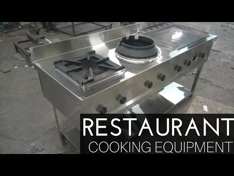 Indian Restaurant Equipment Burner Range With Chinese Burner, Indian Burner And Hot Plate.