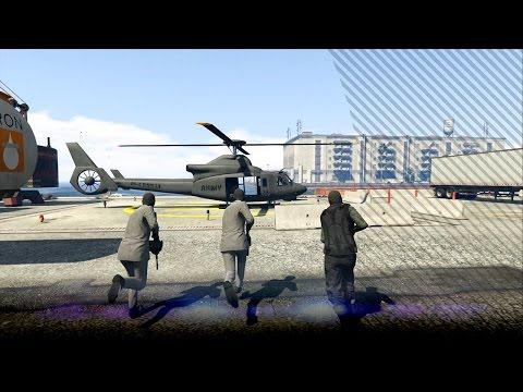 [GTA V: Heist] Een Valkyrie helikopter stelen van de marine basis - Humane Raid - Ep3 (GTA5)