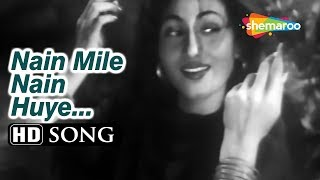 Nain Mile Nain Huye , Tarana (1951) Dilip Kumar , Madhubala , Lata Mangeshkar , Talat Mahmood