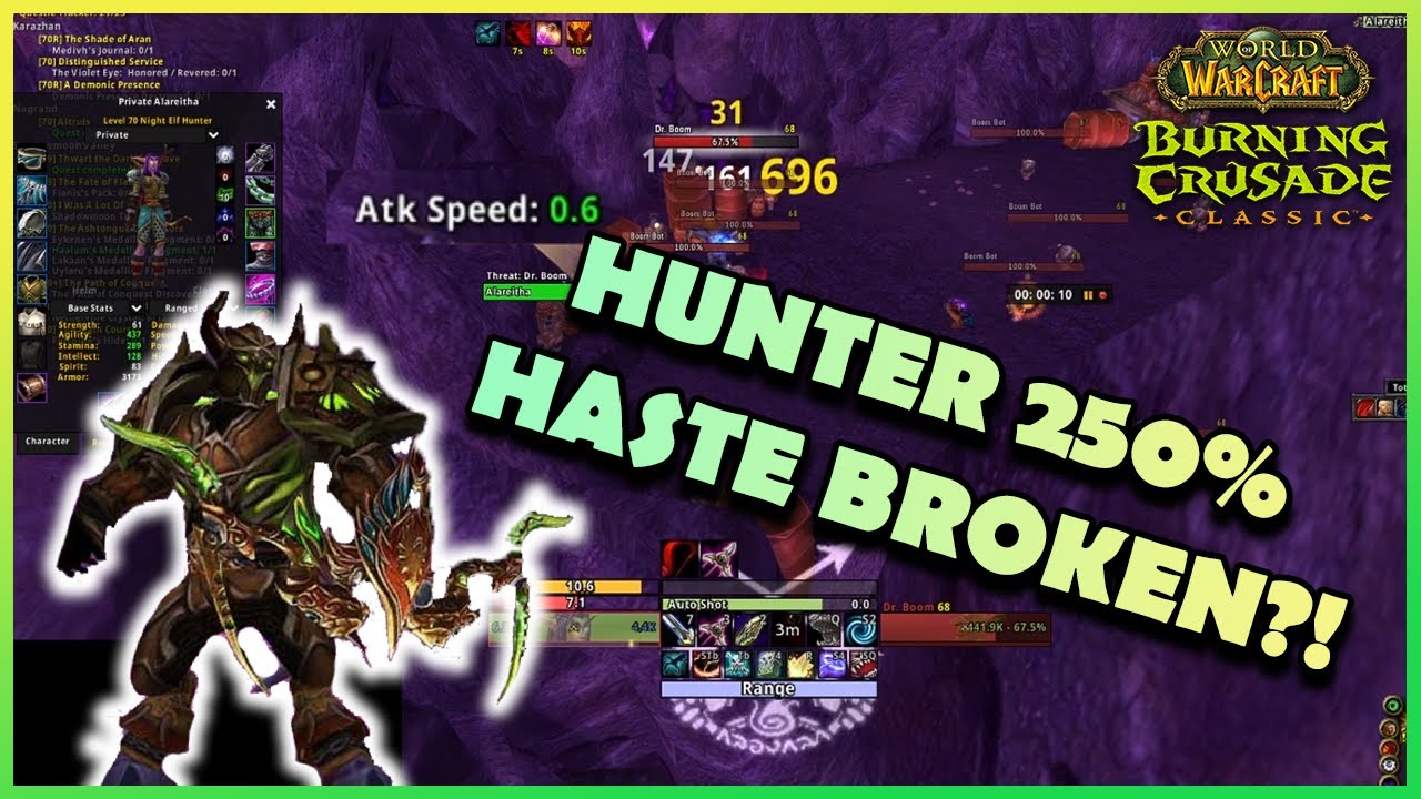 HUNTER 250% HASTE BROKEN?!   Daily Classic WoW Highlights #100  