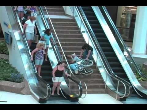 Big Wheelchair Fall Inside Mall Youtube