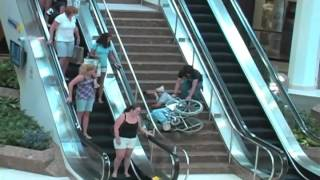 Big Wheelchair Fall Inside Mall