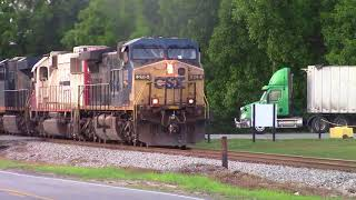 CSXT G963 with an Ex SOO LINE SD60 in the Middle and a AC44CW leads & ES44AH & Horn Salutes
