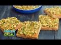 Open Paneer Masala Toast ( Healthy Breakfast )by Tarla Dalal