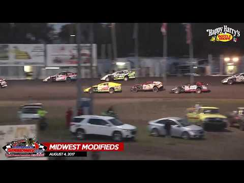 Happy Harry's Midwest Modifieds - August 4, 2017 - River Cities Speedway