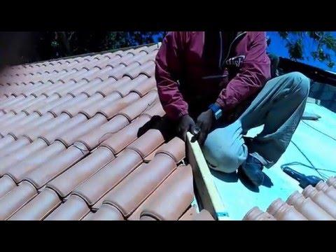 Como instalar teja de barro