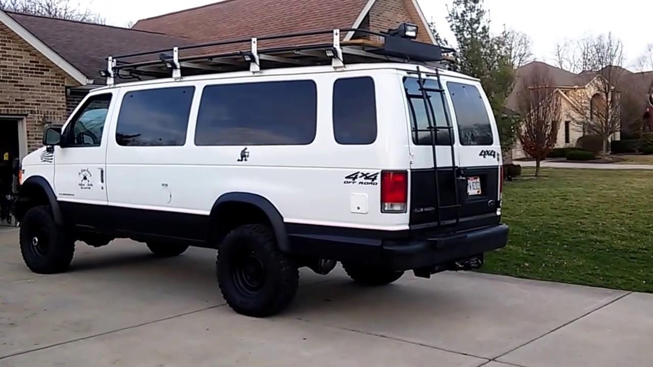 4x4 Van 1998 Ford E 350 Xlt Club Wagon 4x4 Triton 6 8 V10