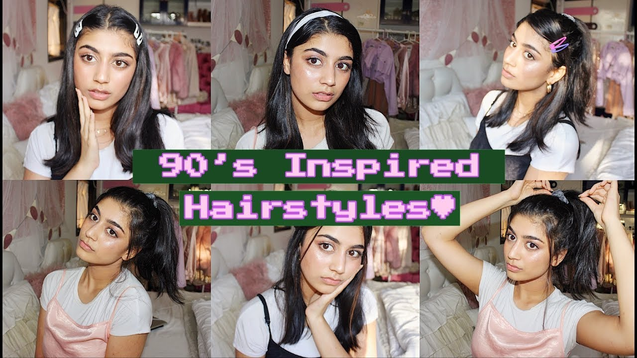 Cute And Quick Hairstyles 90s Inspired Youtube