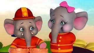Elly The Elephant Animal Rhymes for Children | Infobells