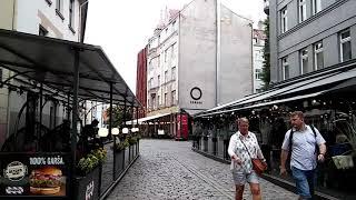 Рестораны на улицах Старой Риги 4 июля 2020