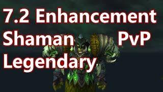 WoW - 7.2 Enhancement Shaman PvP - LEGENDARY - Random Battleground PvP