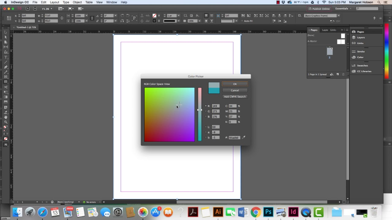 How to Add a Color Background to your InDesign Project