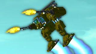 ROCKET FIRING FLYING MECH! (Scrap Mechanic)