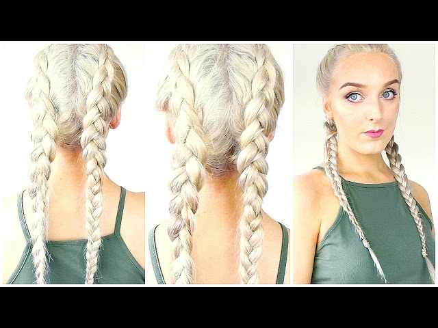 How To Dutch Braid Your Own Hair For Beginners Youtubedownload Pro