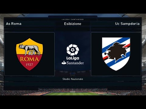 Roma Vs Sampdoria - 22°Giornata [1080p/60FPS] | PES 2018 HELLAS PATCH V1.00