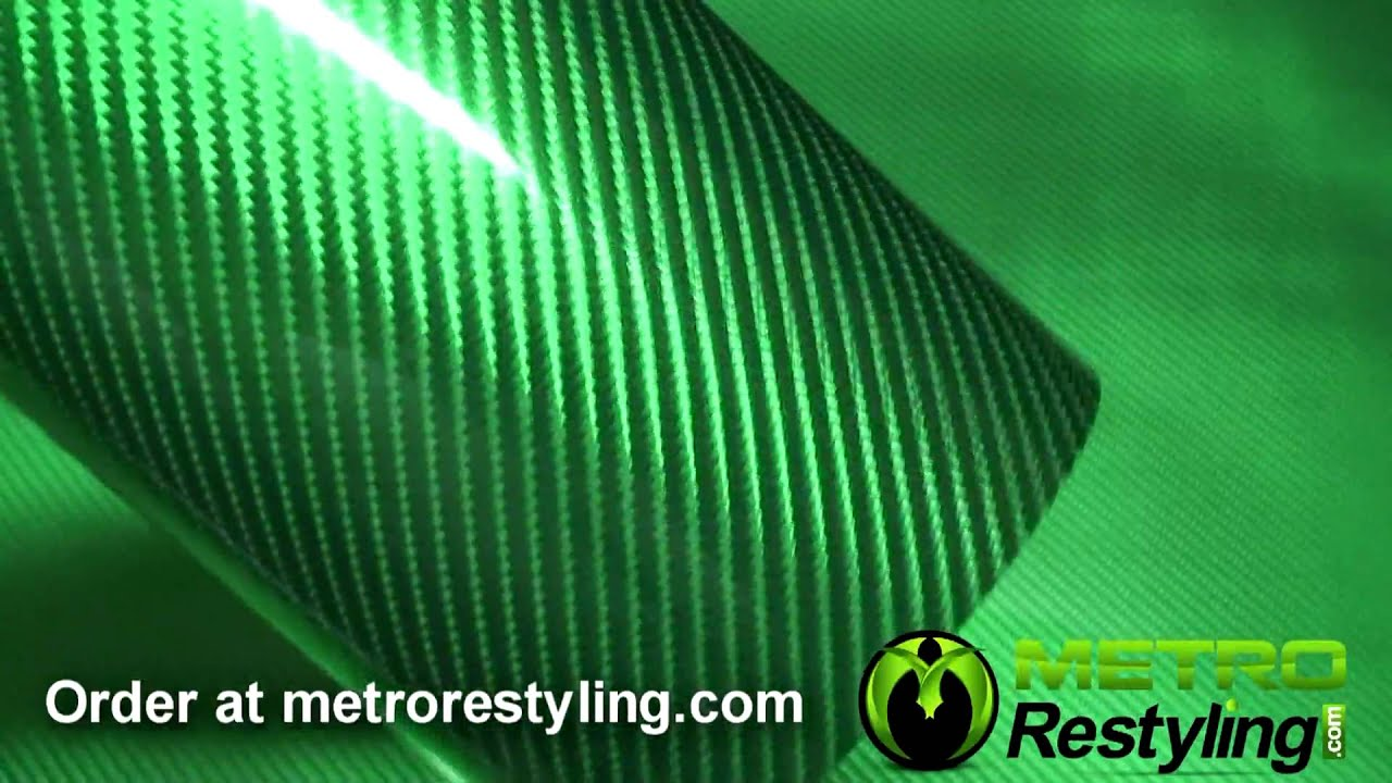 Green 3d Carbon Fiber Vinyl Film Metrorestyling Com Youtube