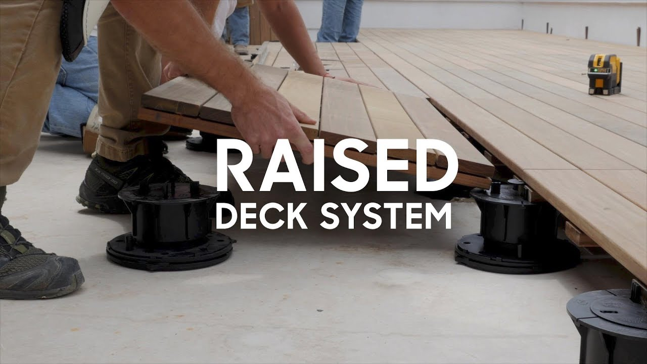 Deck Over A Flat Roof Youtube
