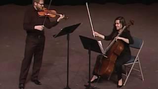 Grant Gilman, Violin - Molly Ball, Cello: Handel Halvorsen Excerpt
