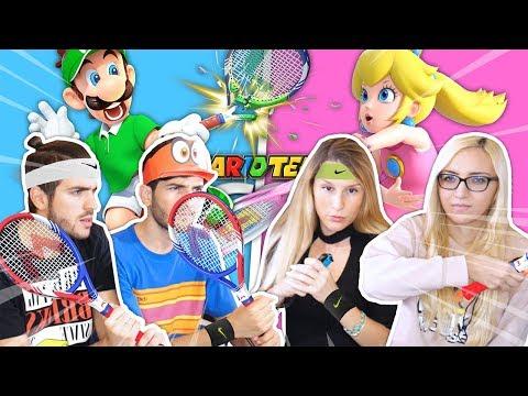 MASCHI VS FEMMINE - Le Ragazze ci distruggono! - Mario Tennis Aces ITA w/ Frake Michelle Elisa