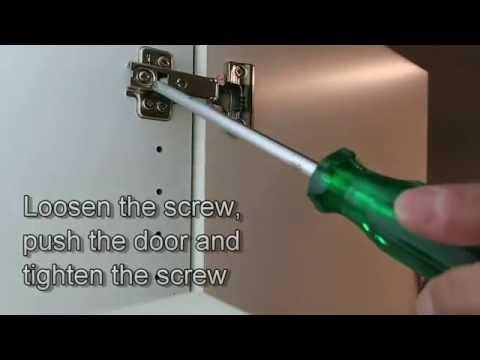 How to adjust the Ikea PAX wardrobe's  doors