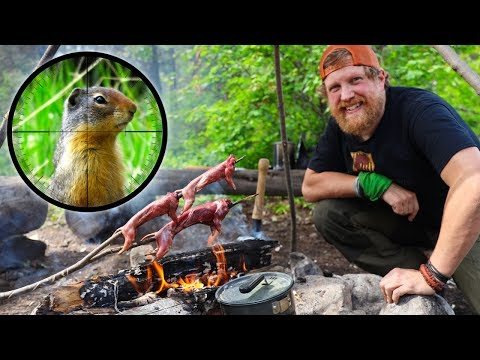 Catch And Cook Gopher Day 4 Of 30 Day Survival Challenge Canadian Rockies