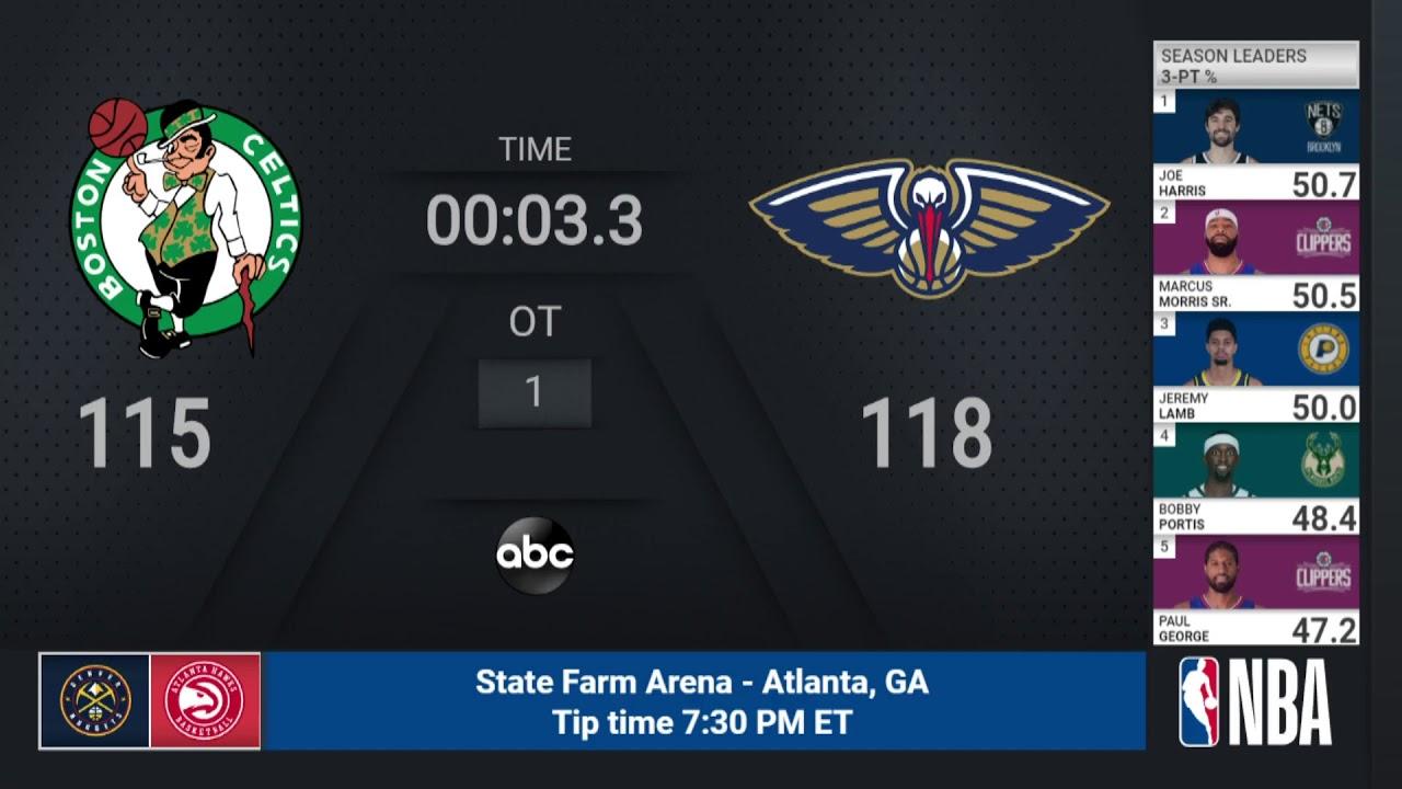Celtics @ Pelicans   NBA on ABC Live Scoreboard - YouTube