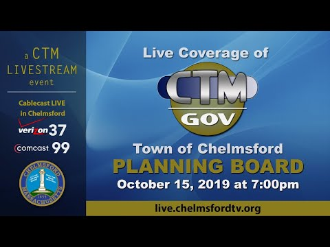 Chelmsford Planning Board October 15, 2019
