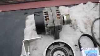 Установка десятого генератора (80амп) на девятку карбюраторную