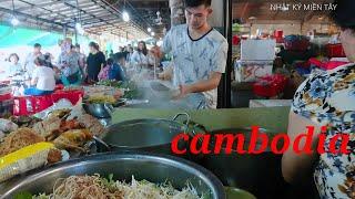 phượt Campuchia   ăn thử món hủ tiếu gà ở chợ hình nón Campuchia