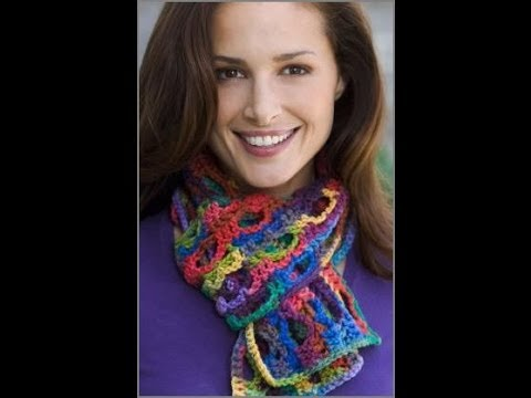 Crochet Side To Side Scarf Crochet Red Heart Pattern Lw2244 Youtube