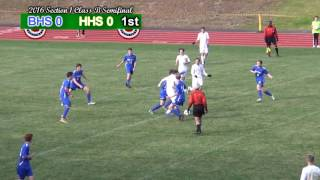 Hastings Soccer 2016 Section One Semi Final vs Bronxville