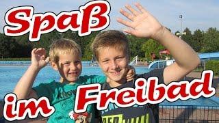 Sommer-Ferien 2015 Vlog - Spaß im Freibad - Fun in the lido pool - Kanal für Kinder Kinderkanal