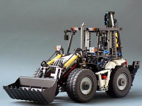 Lego Technic Pneumatic Backhoe Youtube