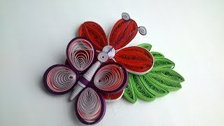 3D quilling: How to Make 3D Quilling Butterfly - Quilling Tutorial